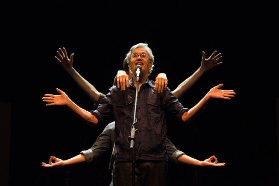 Caetano Veloso, durante un show.