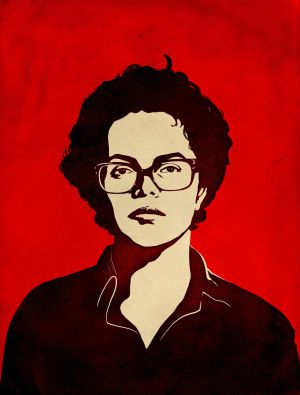 A ilustração de Dilma Rousseff, usada na campanha.