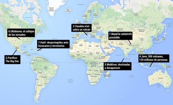 Sete lugares que vivem à espera da próxima catástrofe