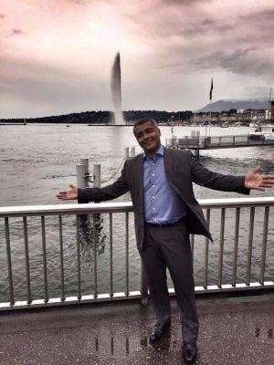 O senador Romário, na Suíça