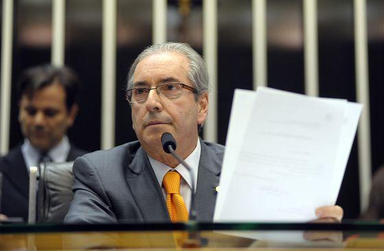 O presidente da Câmara, Eduardo Cunha.