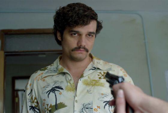 Wagner Mora como Pablo Escobar, en la serie de netflix Narcos