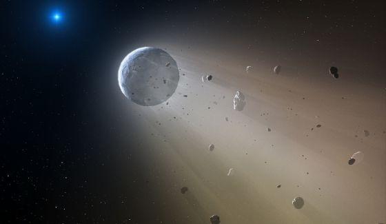 Astrônomos observam a desintegração de uma Terra inteira
