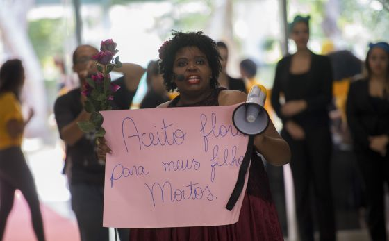 Una protesta contra el racismo en Brasilia.