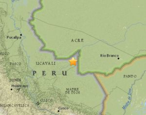 Terremoto volta a atingir região da fronteira entre o Peru e o Brasil