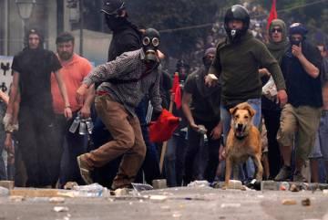Protestos na Grécia.