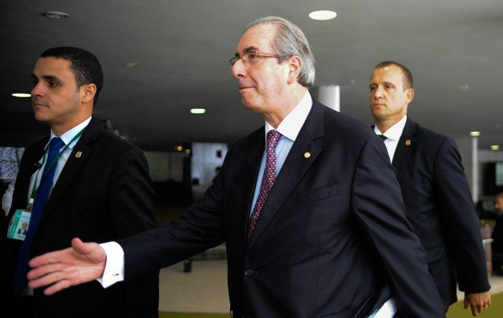Eduardo Cunha na Câmara em 26 de janeiro.