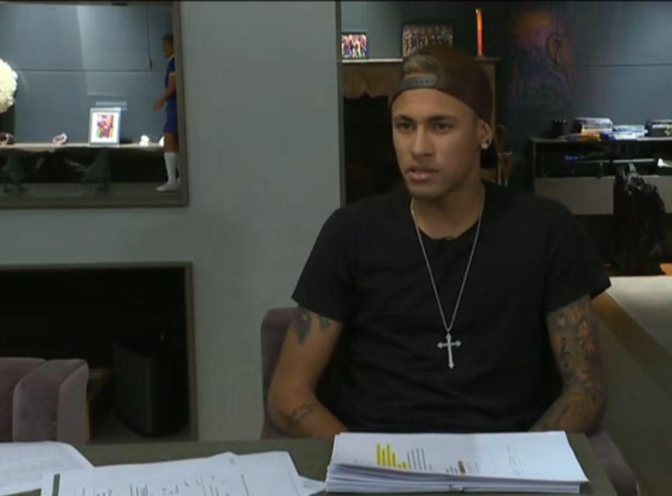 Neymar en la entrevista al programa 'Fantástico'.