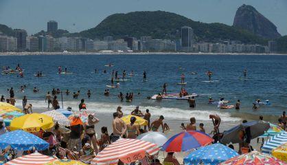 Praia de Copacabana, no Rio.