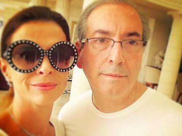 Claudia Cruz e o marido, Eduardo Cunha.