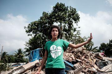 Maria da Penha es una de los últimos vecinos de Vila Autódromo, reducida hoy a un puñado de casas.