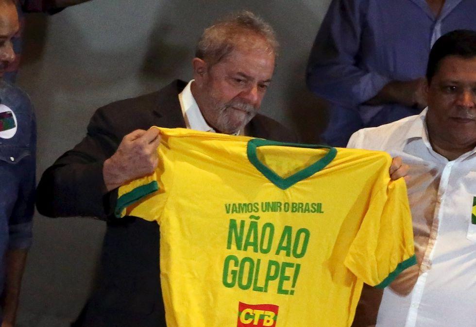 El expresidente Lula, este miércoles.