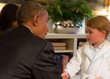 Príncipe George conhece o presidente Obama