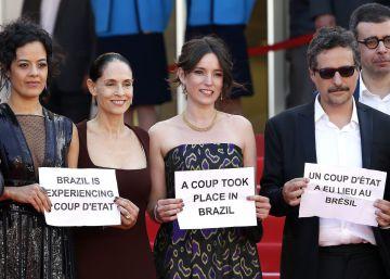 """El elenco de la película 'Aquarius' denuncia un """"golpe de Estado"""" en Brasil"""