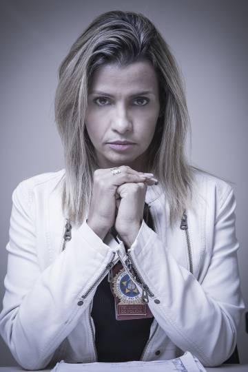 A delegada do caso do estupro coletivo no Rio, Cristiana Bento (Foto: Eduardo Zappia)