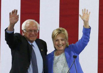 Clinton e Sanders fazem ato conjunto pela primeira vez na campanha