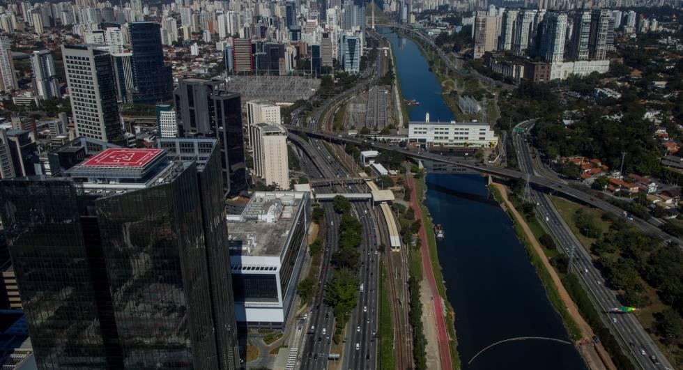 Vista aérea da Marginal Pinheiros.