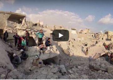 A patrulha em Alepo com os 'White Helmets', em 360º
