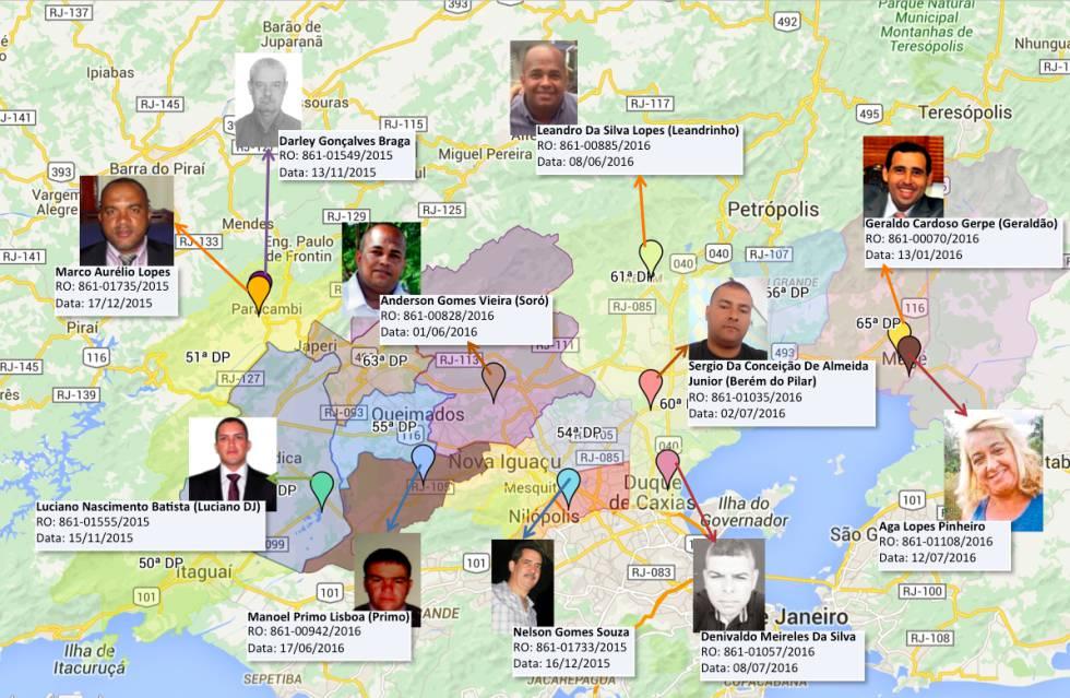 A polícia investiga as motivações de 10 assassinatos de pré-candidatos e vereadores na Baixada.