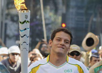 O revezamento da tocha olímpica em São Paulo