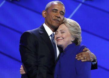 Obama passa o bastão da liderança do Partido Democrata para Hillary Clinton