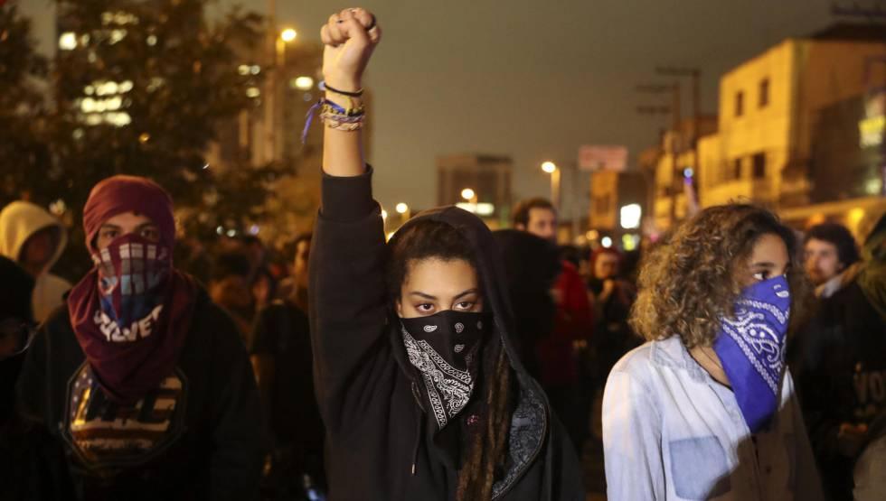 Protesto contra Michel Temer em São Paulo.