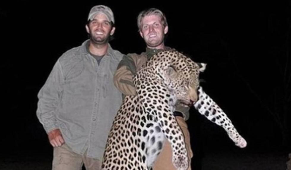 Foto dos filhos de Trump caçando persegue o pai nas redes sociais