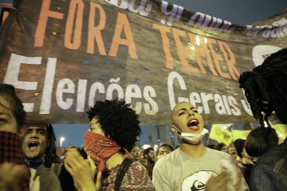 Diretas Já nas manifestações fora Temer eleições