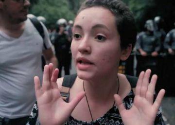 Imagens mostram detenção de adolescentes em ato deste domingo