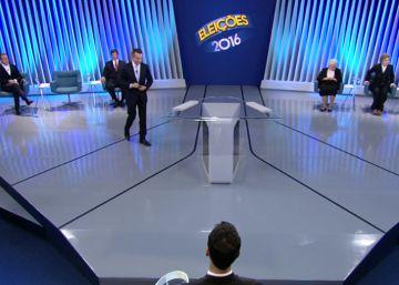 No debate na Globo em São Paulo, adversários isolam Haddad