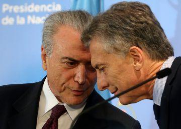 Temer faz de Macri seu grande aliado para uma guinada liberal