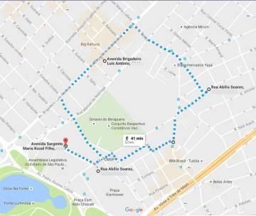 A proximidade dos endereços de Manoel Morata, o Círculo Militar, o Comando Sudeste e o apartamento onde o capitão Botelho vivia.