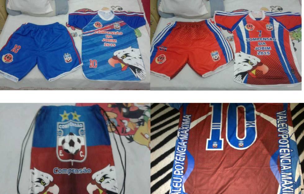 Camisa do time homenageando o traficante Potência Máxima.
