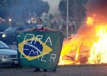 As imagens do protesto em Brasília