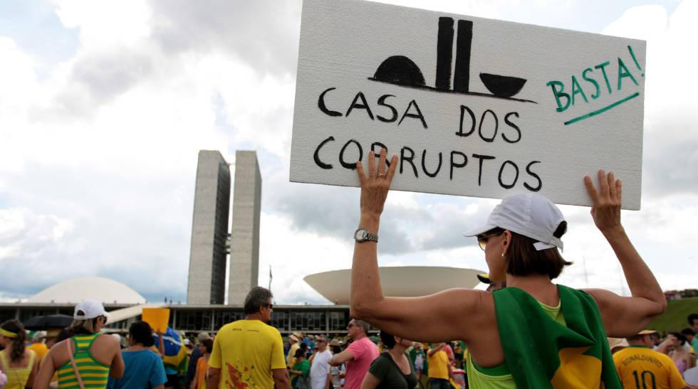 Protesto contra corrupção.