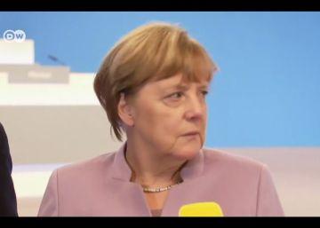 A reação de estranheza de Merkel ao ser gravada pela primeira vez com uma câmera 360º