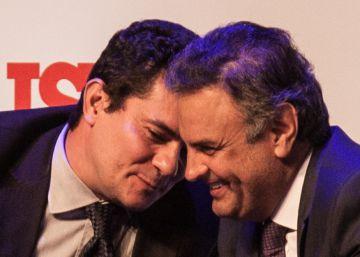 Foto de Moro e Aécio rindo juntos eletriza as redes em pleno caos no país