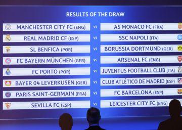 Champions League: veja o resultado do sorteio das oitavas de final