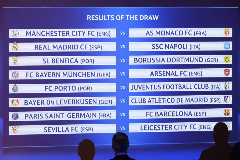 Champions League 2017 2016 sorteio oitavas