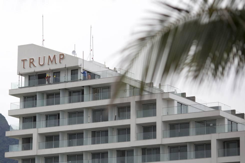 Últimos pisos del Hotel Trump en Río de Janeiro.