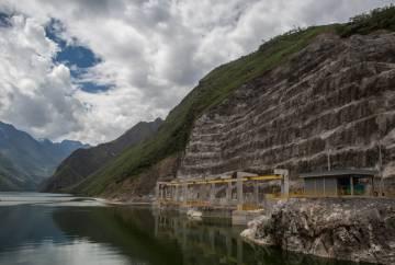Hidrelétrica no Peru construída pela Odebrecht.