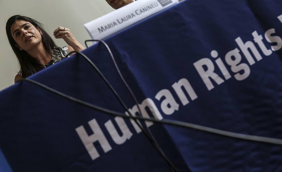 A diretora do Human Rights Watch no Brasil, Maria Laura Canineu, divulga o relatório.