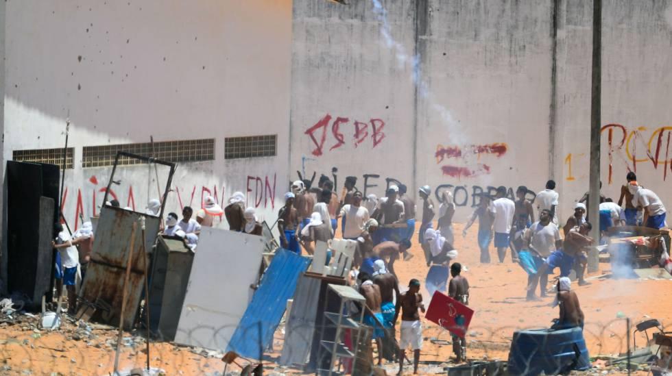 Confronto na penitenciária de Alcaçuz em janeiro.
