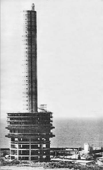 Imagem antiga da construção do Hotel Nacional.