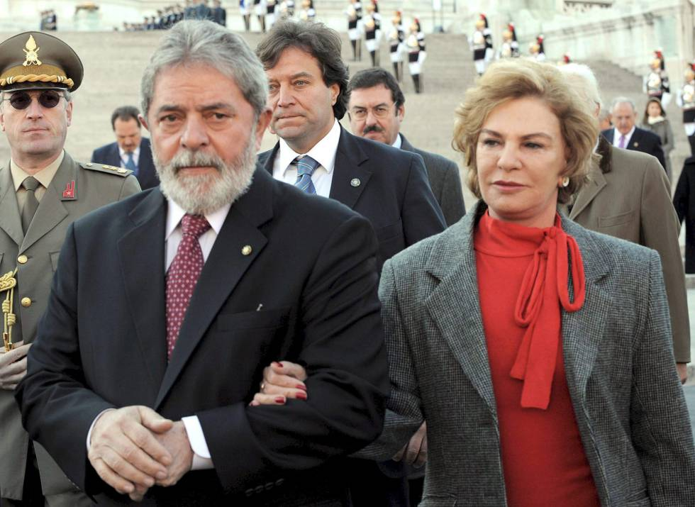 Lula e Marisa Letícia em outubro de 2008, em Roma.