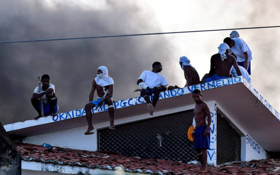 Rebelião em presídio de Alcaçuz (RN), no dia 19 de janeiro.