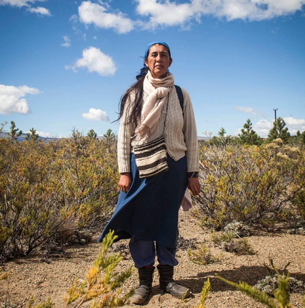 Soraya Maicoño, porta-voz dos mapuches de Vuelta del Río.