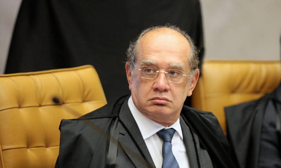 Ministro Gilmar Mendes durante sessão do STF em maio de 2017.