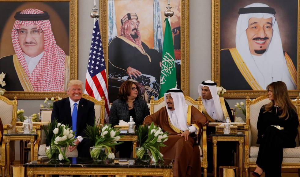 Resultado de imagem para trump na arabia saudita