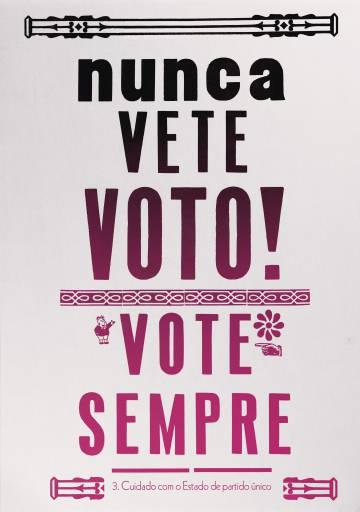 Cartaz da edição brasileira do livro 'Sobre a tirania' feito por Alceu Chierosin Nunes
